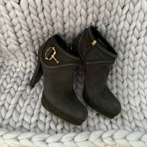 Vintage black Gucci heeled booties, size 37 (7)
